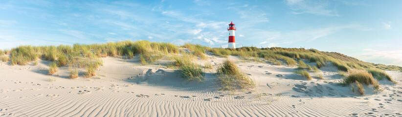 List Ost Lighthouse on the beach, Sylt Island, Schleswig-Holstein, Germany Fotobehang
