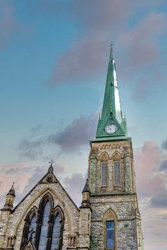 An old stone church in St John, Canada