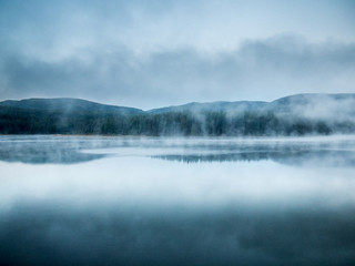 Wall Murals Lake Morning in the Rocky Mountains, Montana, USA