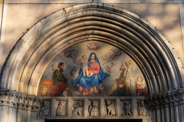 Wall Mural - Facade of San Marco church in Milan, Italy