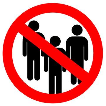 No public meetings vector sign