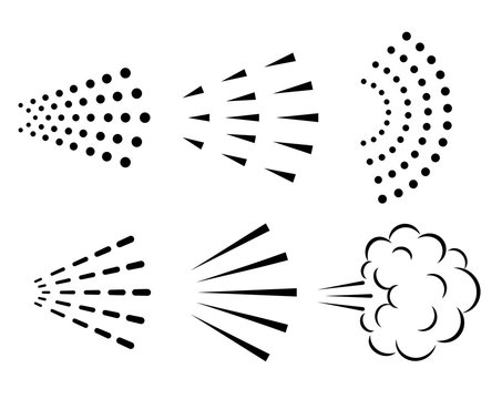 Spray vector icon collection