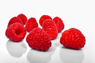 healthy fresh tasty red raspberry fruit
