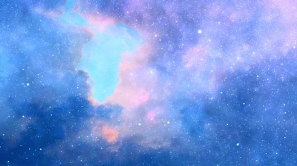 Wall Mural - Colorful clouds and stars in sky