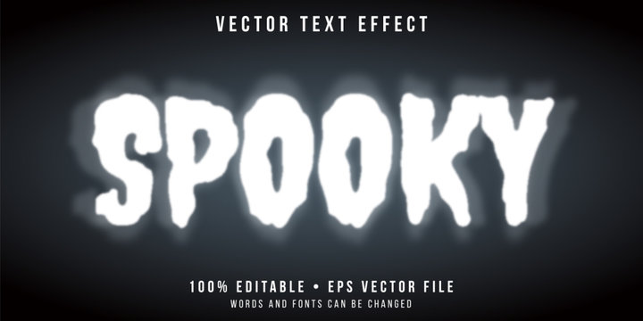 Editable text effect - spooky ghost style