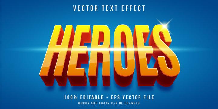 Editable text effect - super hero style