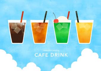 喫茶店の冷たいドリンク夏