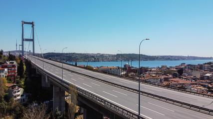 Fotomurales - Bosphorus Bridge in Istanbul, Turkey