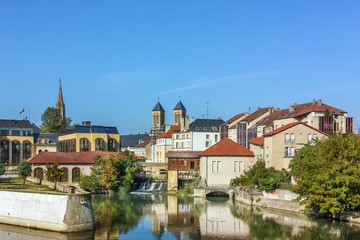 Fototapete - View of Metz, France