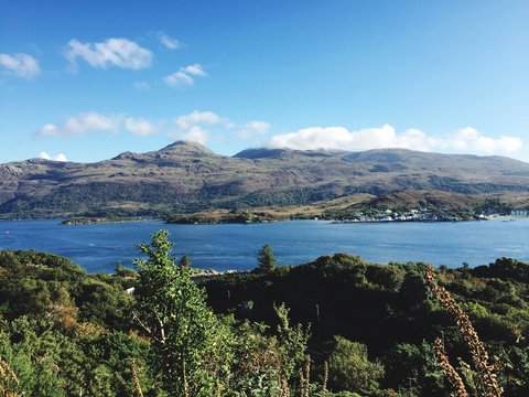 Scenic View Of Loch Alsh Against Mountains Against Sky
