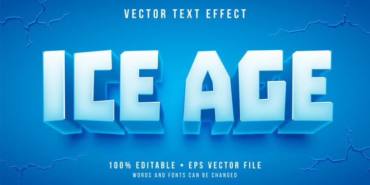 Editable text effect - ice block style