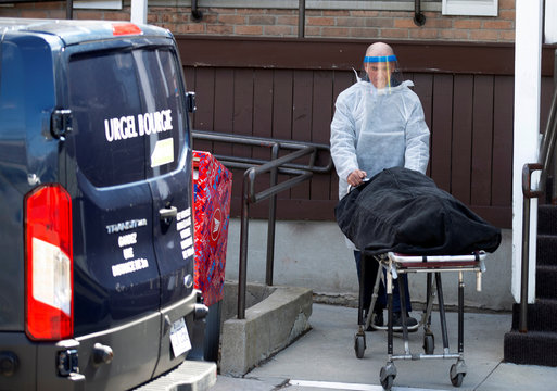 A body is removed from seniors' long-term care centre in Montreal