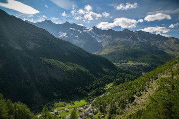 Wall Mural - View on Saas valley in southern part of Switzerland