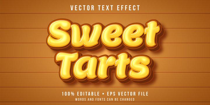 Editable text effect - tarts dessert style