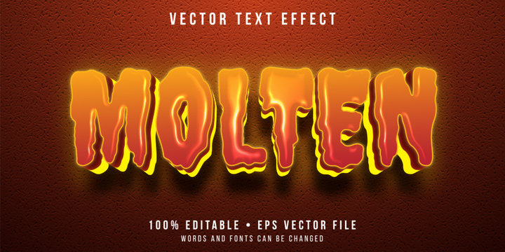 Editable text effect - molten lava style