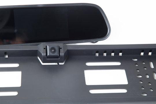 Car accessory.Car rear view camera.Additional equipment.