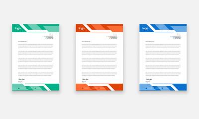 Modern Creative Letter Head Design Template