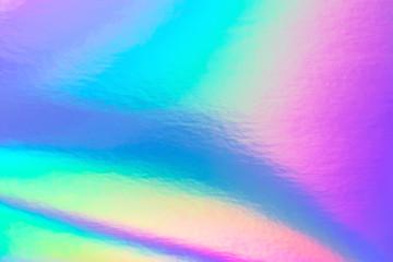 Wall Mural - Retro holographic foil background, great design for any purposes. Abstract colorful vibrant blur iridescent gradient. Retro futuristic label design.