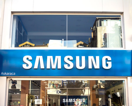 EDIRNE, TURKEY : samsung shop, Samsung Group is one of the largest electronics companies in the world