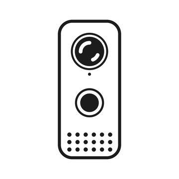 Doorbell rings icon – vector