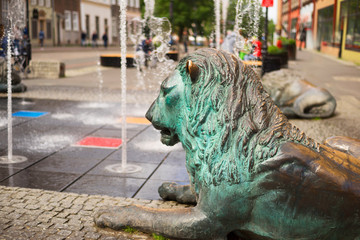 Fototapete - Fountain sea city of Gdansk