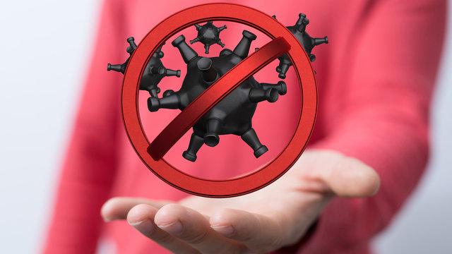 stop the epidemic virus global illustration