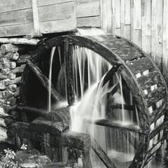 Canvas Prints Mills Close-up Of Waterfall