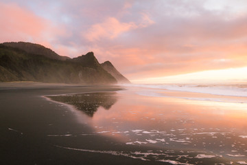 Canvas Prints Cappuccino Sunset colors and Cape Sebastian, Oregon