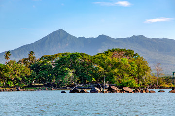 Lake Nicaragua or Lake Cocibolka the tenth largest fresh water lake in the world and second largest in Central America Wall mural