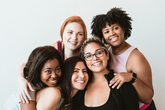 Group of active women
