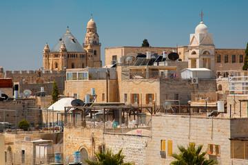 Old Jerusalem skyline view