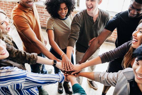 Diverse people teamwork concept
