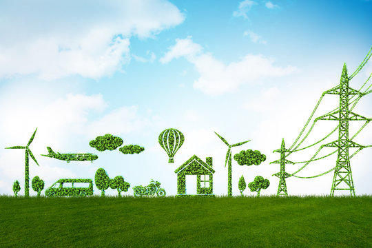 Green energy concept - 3d rendering