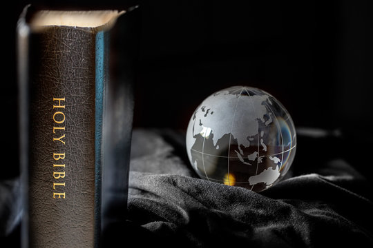 Black Holy Bible with Earth