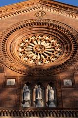 Wall Mural - Facade of San Marco church in Milan, Italy