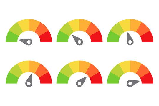 scale meter score level icon feedback vector