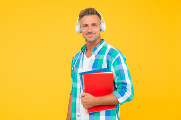 Free courses. Audio courses. Learning english. Modern technology. Audio book concept. Worldwide...