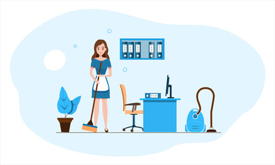 Office cleaning website