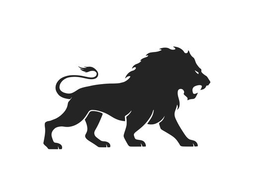 lion icon. vector image for emblem and logo