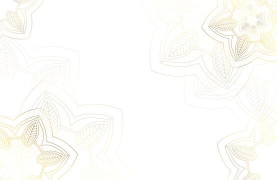 Modern luxury white background with decorative mandala flower element