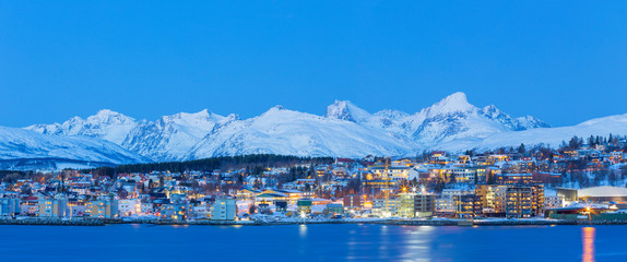Panoramic view on Tromso, Norway, Tromso At Winter Time, Norway