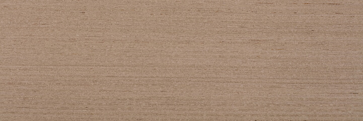 Stylish beige oak veneer background as part of your home project. Natural wood texture, pattern of a long veneer.