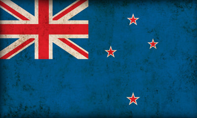 New Zealand flag on grunge background