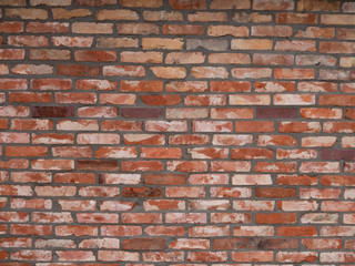 symmetrical red brick wall texture