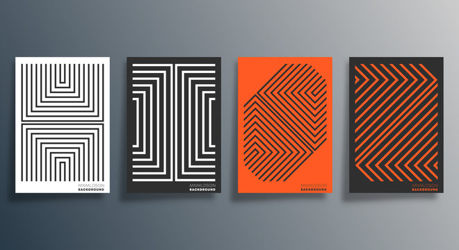 Minimal geometric design for flyer, poster, brochure cover, background, wallpaper, typography or other printing products. Vector illustration