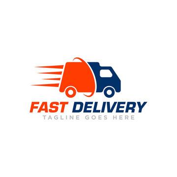 Fast Delivery Logo Icon Design Vector