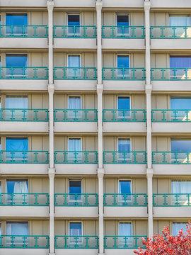 Concrete Tower Block Windows and Balconies Bracknell Berkshire England