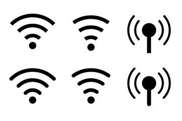 phone signal free wifi icon symbol vector set Fototapete