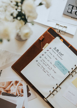 To do list on a journal