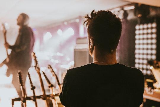 Technician at a music concert